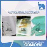 70 gramos y 100 gramos de transferencia por sublimación de rollo de papel para la industria textil