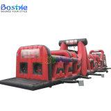 Langer riesiger aufblasbarer Hindernis-Kurs, Kind-aufblasbarer Spielplatz, aufblasbares kombiniertes