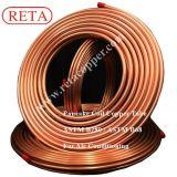 El tubo de refrigeración de cobre