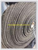Alta resistência ao desgaste Mining/Pedreira tapete de borracha reforçado com fibra/Capachos Roll