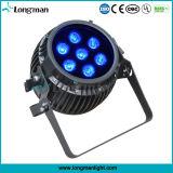 電池無線DMX LEDの同価ライト61でRgbaw紫外線7*14W