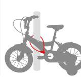 4ディジットの小型組合せ2の車輪の機密保護ケーブルロック