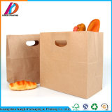 Sacchetto ecologico di imballaggio per alimenti del pane della carta kraft Con la maniglia tagliata