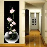 3 قطعة خداع حارّ يزهر [ولّ بينتينغ] حديثة صورة زيتيّة غرفة زخرفة جدار فنية صورة يدهن على نوع خيش منزل زخرفة [مك-216]