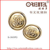 Tibia Button in laser Artwork (S-360PG) di Gold Color With