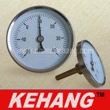 Indicador bimetálico industrial da temperatura do termômetro da tubulação (KH-W301T)