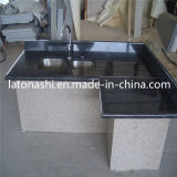 Step、Handrail、Countertop、Vanity Topのための蝶Blue Granite Tiles