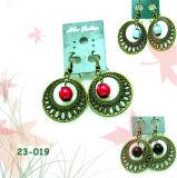 Beaded Alloy Period Earrings (23-019)