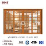 Porte coulissante en aluminium de balcon avec la porte d'aluminium de prix usine