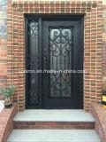 家のための正方形の上の鉄の単式記帳のドアデザイン