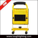 Funciona con batería recargable de 20 W proyector LED con soporte