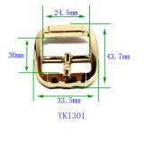 핸드백 (YK1214-1301)가 의복을%s 최신 판매 금속 아연 합금 센터 바 버클 Pin 벨트 죔쇠에 의하여 구두를 신긴다