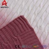Beau Colorant violet dégradé DIP tricot de câble de jeter de l'acrylique couverture