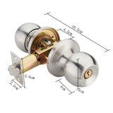 Het standaard Slot van de Knop van de Deur van het Handvat van Combo van de Deur van de Badkamers Vastgestelde Cilindrische