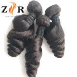 Weave frouxo brasileiro do cabelo humano da onda do Virgin 7A não processado