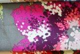 Textile tricoté estampé floral de tissu du poly velours 2016