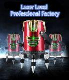 Las altas líneas brillantes del Ld 3 ponen verde el nivel del laser