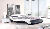 Base di cuoio moderna della camera da letto dell'Italia di figura curva
