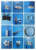 Material del acero inoxidable de la abrazadera 201 de la cuña del cable de FTTH