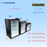 Охладитель батареи холодильника витрины 0~10degree стеклянной двери DC 12V24V Purswav Sc-70 70L охлаждая солнечный