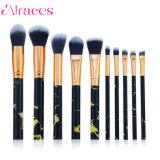 10ПК черного мрамора косметический набор щеток для макияжа в салон красоты