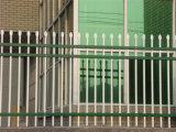 Acier résidentiel simple blanc de jardin clôturant 18-2