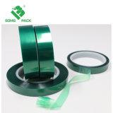 Nastro adesivo del nastro protettivo del silicone a temperatura elevata verde del poliestere