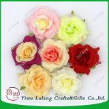 花の壁によってカスタマイズされるシャクヤクのローズの安い人工絹の頭状花