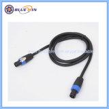 Kabel van uitstekende kwaliteit 1/4 van de Spreker Jack met het Mannetje van de Stop van de Banaan aan Wijfje 2 X 2.5mm2 3m 5m 10m 15m 20m