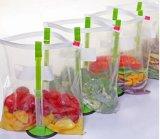 Бесплатные пластиковые руки мешковатых мешок для хранения данных для установки в стойку и держатель сошника