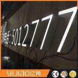 Cartas de canal de acrílico al aire libre de la muestra LED Frontlit de la publicidad comercial de las señalizaciones del LED