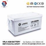 Sistema Solar de plomo/Lanyu200A006 de la batería 12V 200ah Baterias del gel