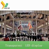 Visualizzazione di LED trasparente P5 per la pubblicità dell'aeroporto