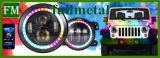 """RGB 7"""" круглый светодиодный фары в джип и Харлей Дэвидсон"""