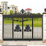Cancelli di alluminio della strada privata della villa del metallo di vita moderna