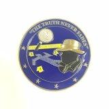 Het goedkope 3D Muntstuk van de Uitdaging van de Detective Gouden met Sticker