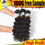 волна бразильских волос девственницы 100%Unprocessed глубокая