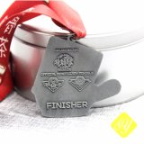 Kundenspezifische Andenken-Karnevals-Preis-Zink-Legierungs-Decklack-Fußball-Medaille