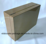 Joyas de madera dorada decorativos Embalaje de regalo Caja de almacenamiento.
