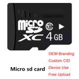 Topfine Tarjeta de memoria Micro SD Clase 10 Clase de la tarjeta del TF6 4GB Microsd