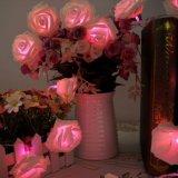 2m 20 quirlandes électriques de fleur de lumière de batterie de DEL Rose