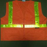 Uniforme da veste da segurança com a fita de cristal reflexiva do diodo emissor de luz