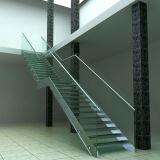 철사, PVC 손잡이지주 계단 Pr L1030를 가진 강철 목제 방책 계단