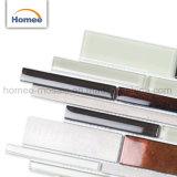 Cocina de la fábrica de alta calidad Backsplash mezcla de aluminio en color beige marrón mosaico de vidrio