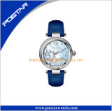 Starfish Pattern Shell Mop Dial roses pierres Lady montre-bracelet
