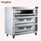Het 3-dek van het roestvrij staal 9-dienblad de Oven van de Pizza van het Baksel van het Gas voor Verkoop