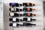 Rek van de Staaf van de Spelden van de Wijn van het Aluminium van het Rek van de Wijn van de Muur van Vino van de Pinnen van de Wijn van het metaal het Muur Opgezette