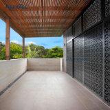 Revêtement en aluminium de mur de panneau de façade dans le filet à mailles en aluminium personnalisé de forme