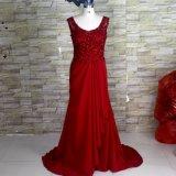 Vestido nupcial E52718 do baile de finalistas do partido do Spandex de Jesery do estiramento dos Rhinestones do vestido de noite do vinho