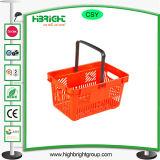 Paniers de magasinage en plastique vert pour la chaîne de magasins
